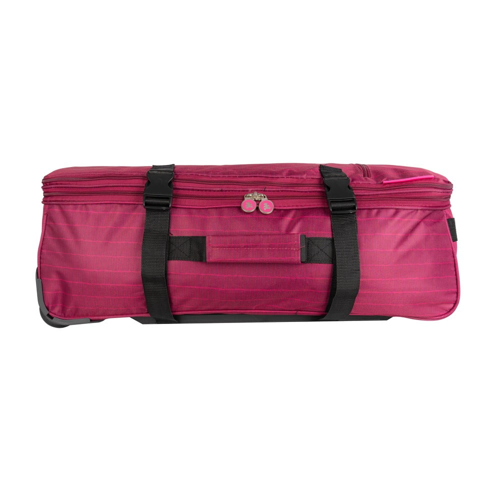 Růžová cestovní taška na kolečkách Lulucastagnette Rallas, 91 l