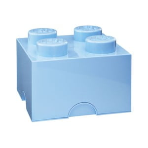 Světle modrá úložná kostka LEGO®