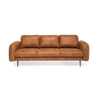 Canapea cu 3 locuri Vivonita Skolm imitație piele