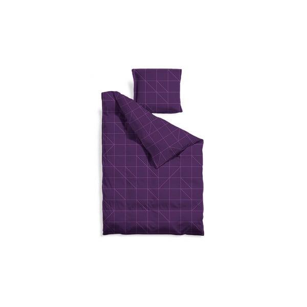 Prodloužené povlečení Purple Geometric, 140x220 cm