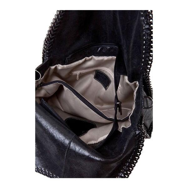 Černá kožená kabelka Markese Amelia