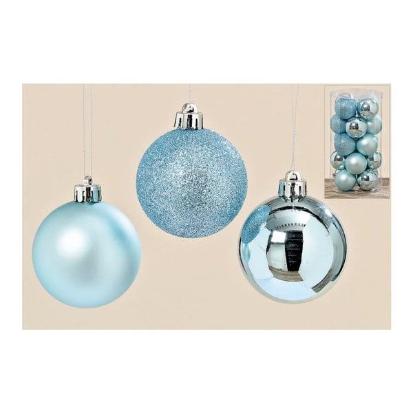 Sada 20 ks vánočních koulí Blue Art