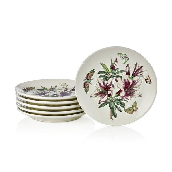 Sada 6 talířů Zahrada, 19.5 cm