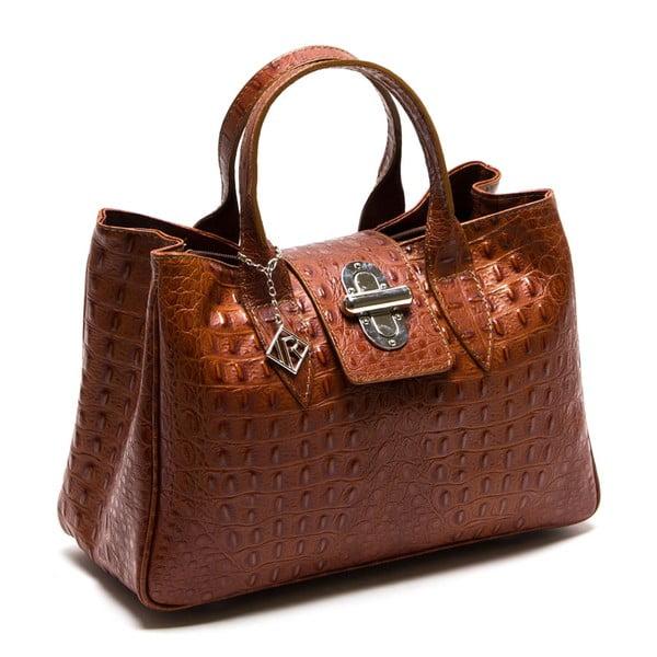 Kožená kabelka Isabella Rhea 614 Cognac