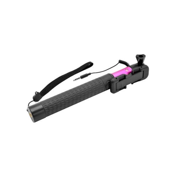 Teleskopický selfie stick FIXED, růžový