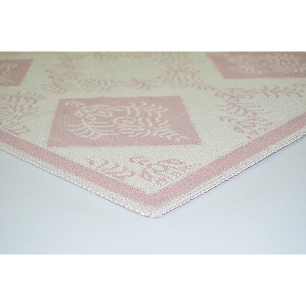 Pudrově růžový odolný koberec Vitaus Azalea, 120x180cm