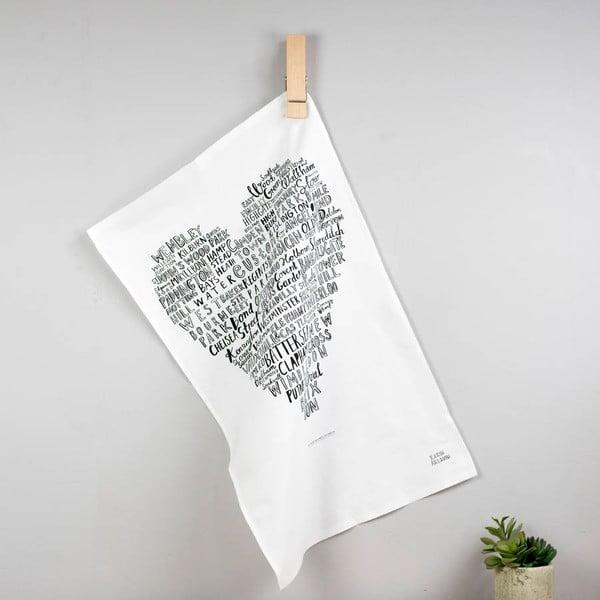 Utěrka Karin Åkesson Design London Heart, 48x78 cm