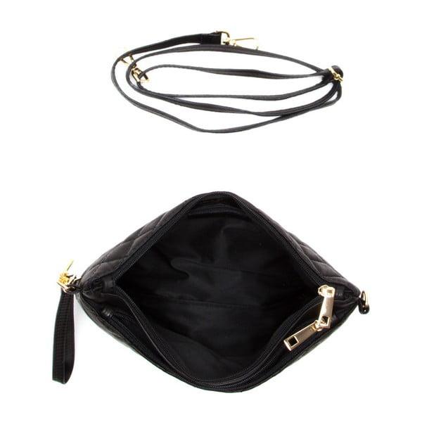 Kožená kabelka Carla Ferreri 2136 Nero
