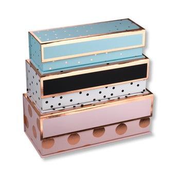 Set 3 cutii colorate pentru depozitare Tri-Coastal Design Dots de la Tri-Coastal Design