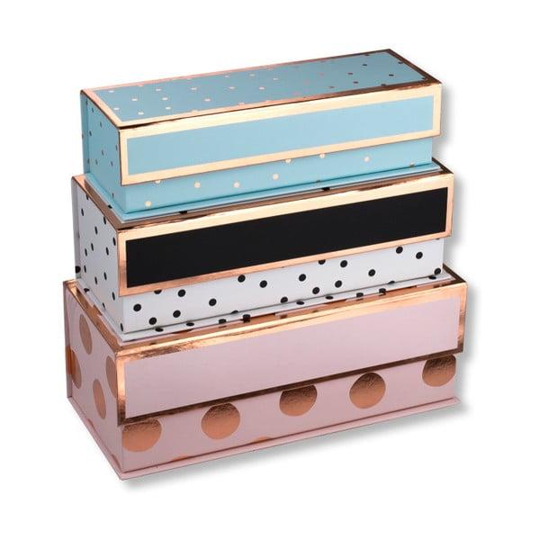 Set 3 cutii colorate pentru depozitare Tri-Coastal Design Dots