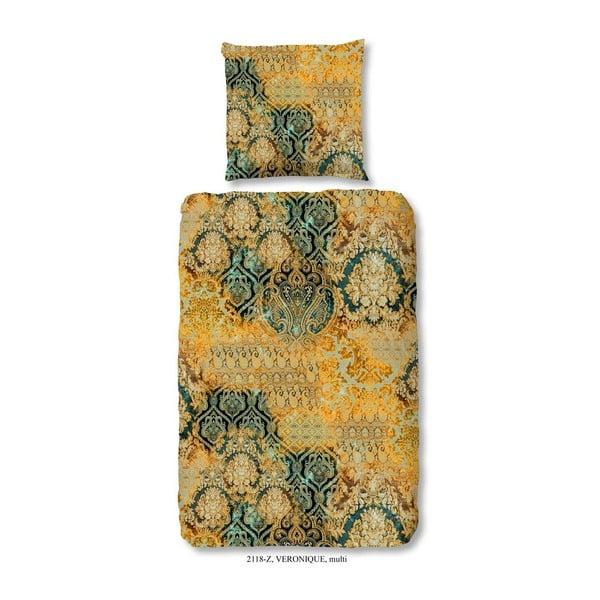 Pościel jednoosobowa z satyny bawełnianej zouzou Kriro Grey, 135x200 cm