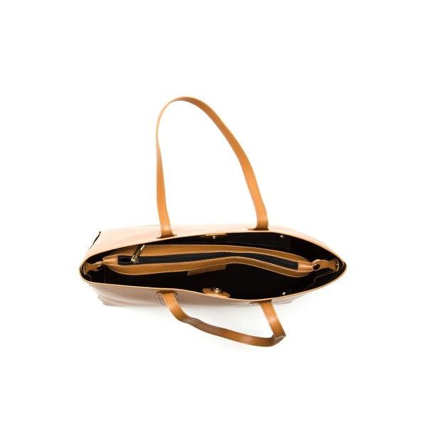 Hnědá kožená kabelka Sofia Cardoni Amelia