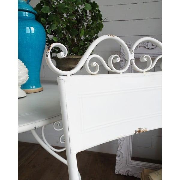 Kovová židle Oldie White
