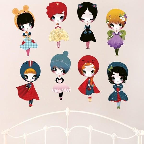 Znovu snímatelná samolepka Dress Up 8 Dolls