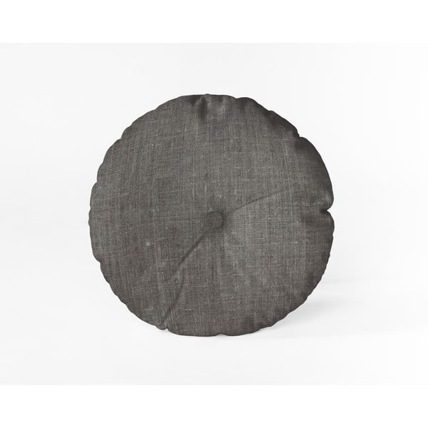 Pernă Linen Couture Cojin Redondo Cool Grey, ⌀ 45 cm, gri