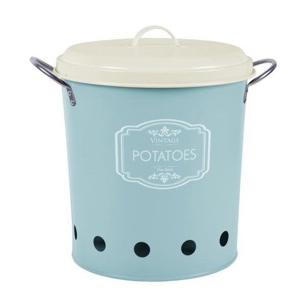 Recipient metalic pentru cartofi Ego dekor, 10 l, albastru,