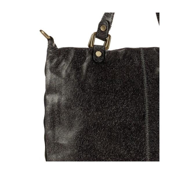 Kožená kabelka Ore Diece Affile, černá