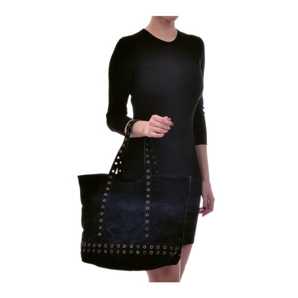 Černá kožená kabelka Luisa Vannini Sutra