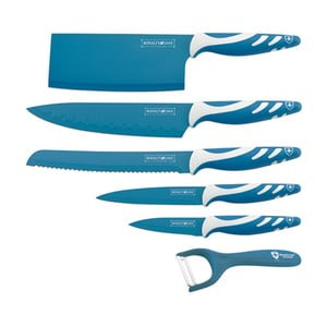 6dílná sada nožů Chef Non-stick Color, modrá