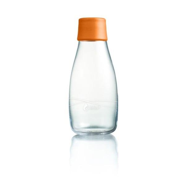 Oranžová skleněná lahev ReTap s doživotní zárukou, 300ml