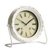 Kovový budík, antique white, 28x29x11 cm