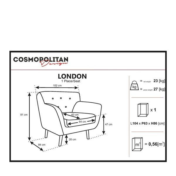 Šedobéžové křeslo Cosmopolitan design London