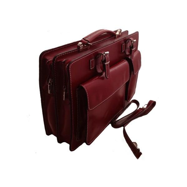 Kožená kabelka/kufřík Cortese, červená