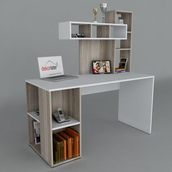 Pracovní stůl Coral White/Cordoba, 60x140x153,8 cm