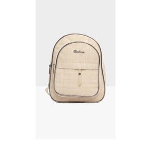 Světle béžový dámský batoh Mori Italian Factory Marno