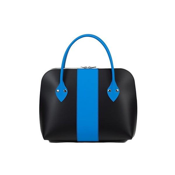 Kožená kabelka Eva Media Line Black/Blue