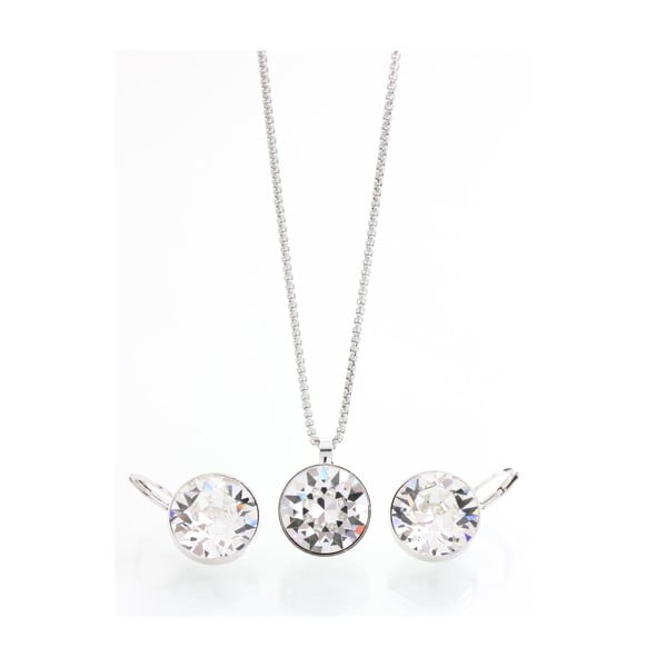 Set náhrdelníku a náušnic se Swarovski Elements Stangan