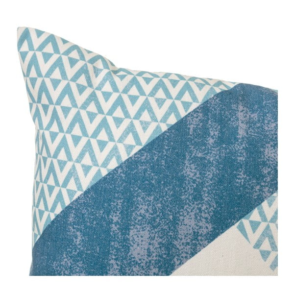 Sada 2 modrých polštářů z bavlny Unimasa Cube, 45 x 45 cm