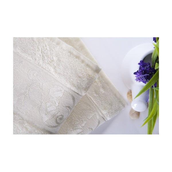 Set dvou ručníků Bamboo Cream, 50x90 cm