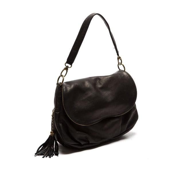 Černá kožená kabelka Sofia Cardoni Cristina
