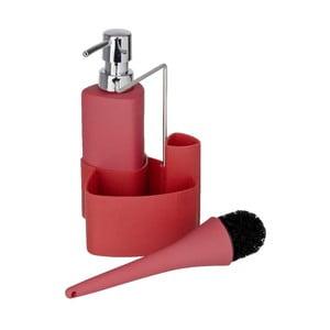 Červený set na mytí nádobí Wenko Empire