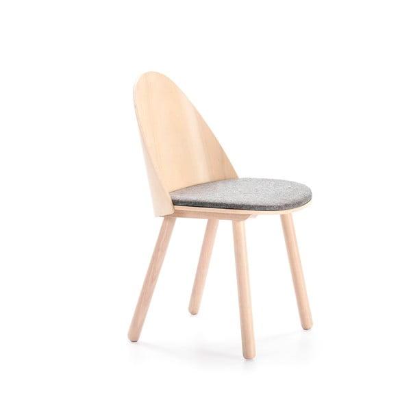 Prírodná stolička so sivým podsedákom Teulat Uma