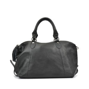 Černá kožená kabelka Mangotti Debra