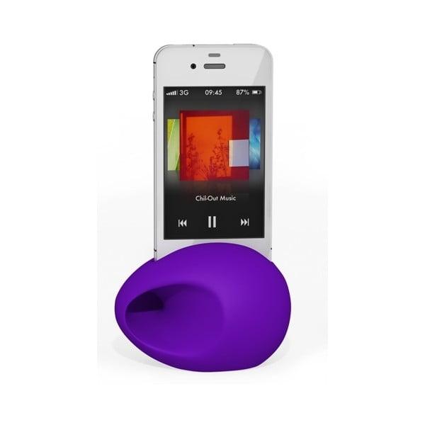 Stojan a zesilovač iEgg na iPhone 4/4S, fialový