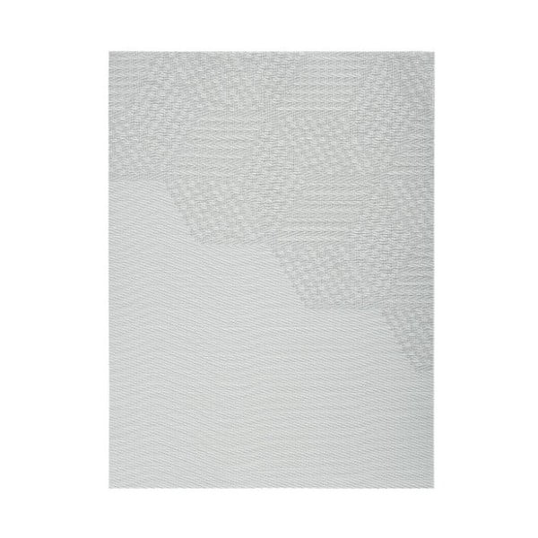 Modrošedé prostírání Zone Hexagon, 30 x 40 cm