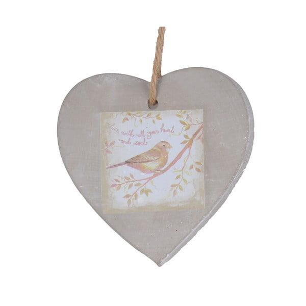 Ozdobné keramické srdce, 8 cm