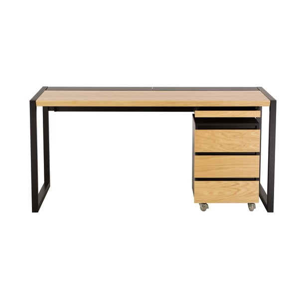 Pracovní stůl se světle hnědou deskou We47 Renfrew Pro