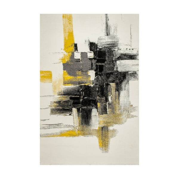 Covor ko Rugs Farbles Grey/Yellow, 120 x 180 cm