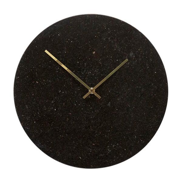 Ceas de perete Hübsch Brandi, înălțime 35cm, negru