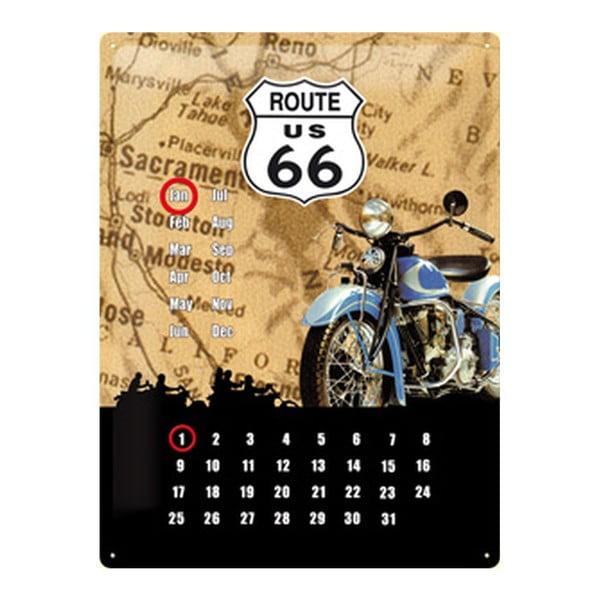 Plechová cedule Route Calendar, 30x40 cm
