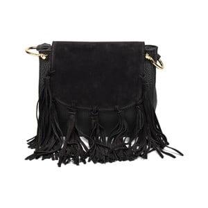 Černá kožená kabelka Renata Corsi Drina