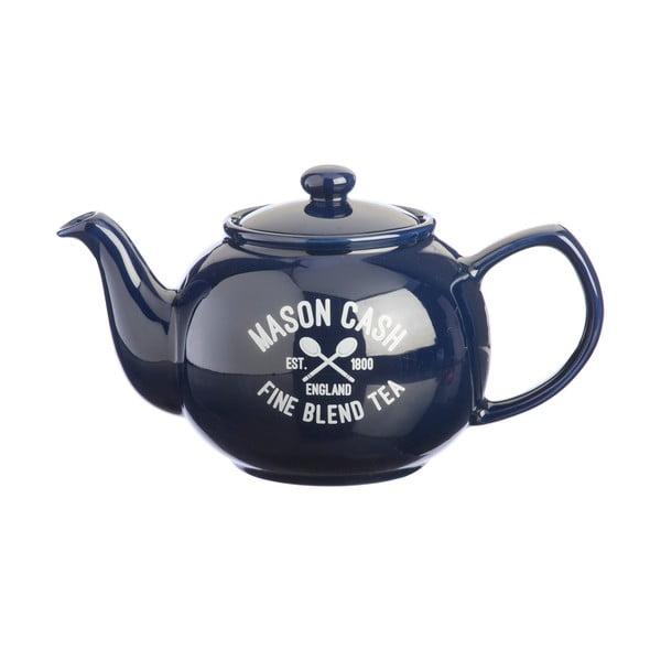Modrá konvice na čaj Mason Cash Varsity, 1,1 l