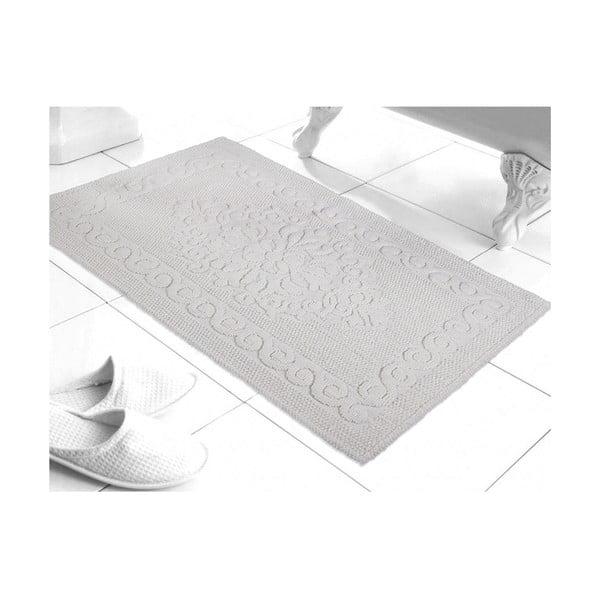 Předložka do koupelny Damask White, 60x100 cm