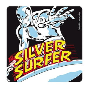 Set 6 tácků Silver Surfer