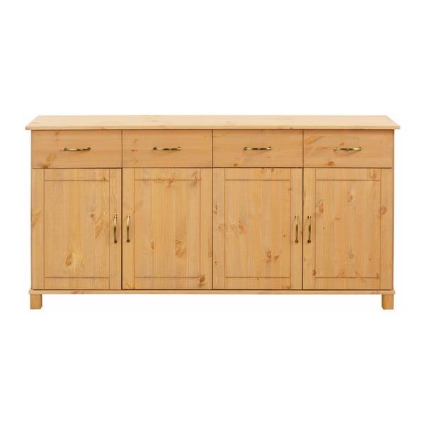 Komoda 4-drzwiowa z litego drewna sosnowego Støraa Pinto