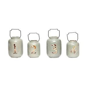 Sada 4 keramických luceren Hübsch Kresten